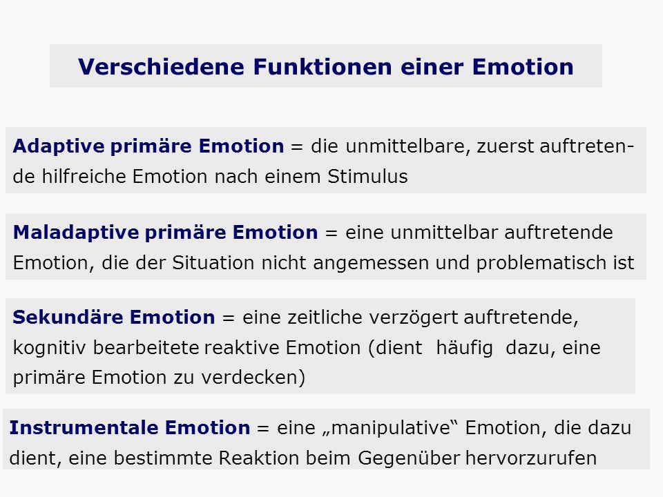 Verschiedene Funktionen einer Emotion