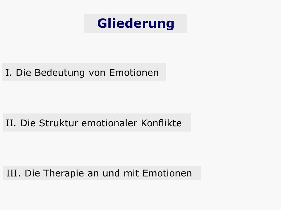 Gliederung I. Die Bedeutung von Emotionen
