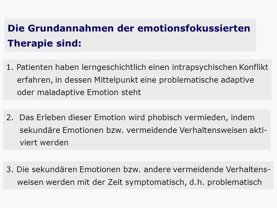Die Grundannahmen der emotionsfokussierten Therapie sind: