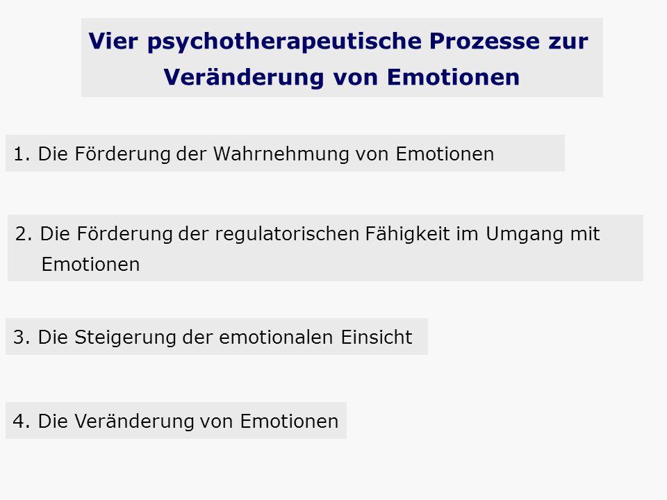 Vier psychotherapeutische Prozesse zur Veränderung von Emotionen