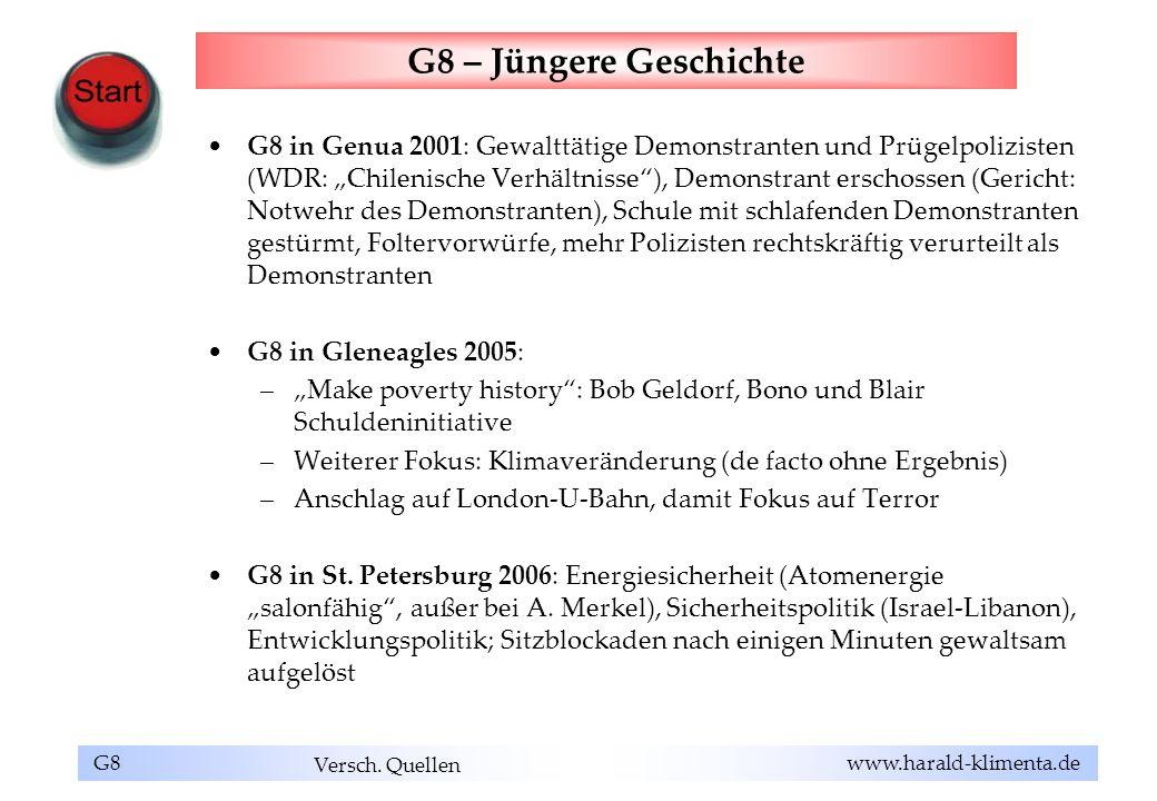 G8 – Jüngere Geschichte