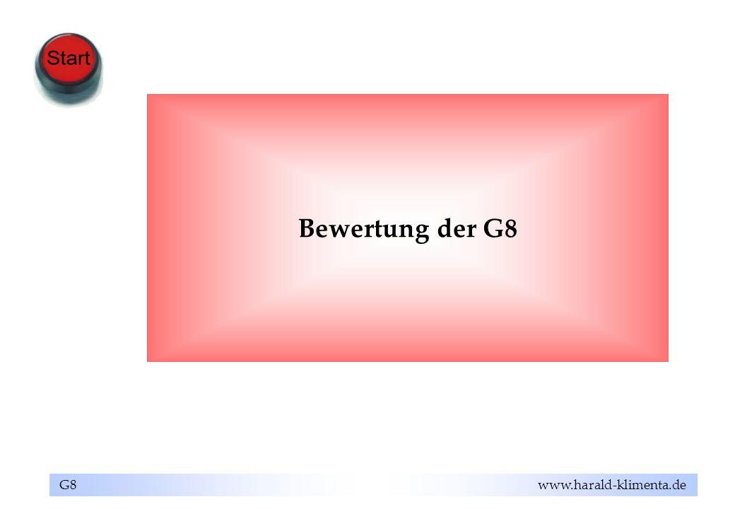 Bewertung der G8