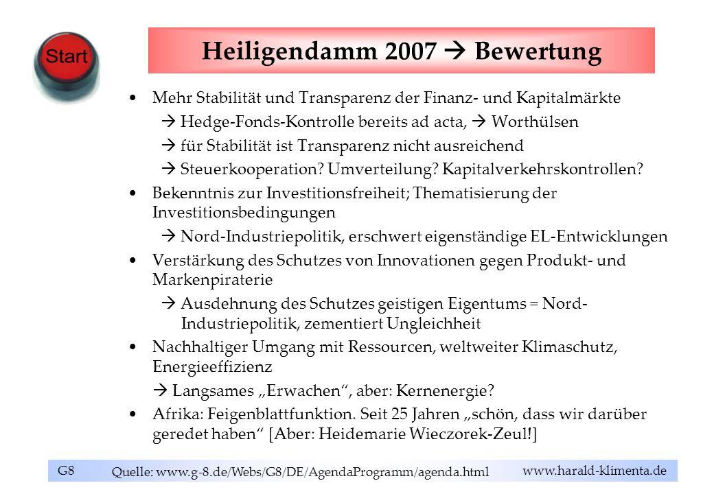 Heiligendamm 2007  Bewertung