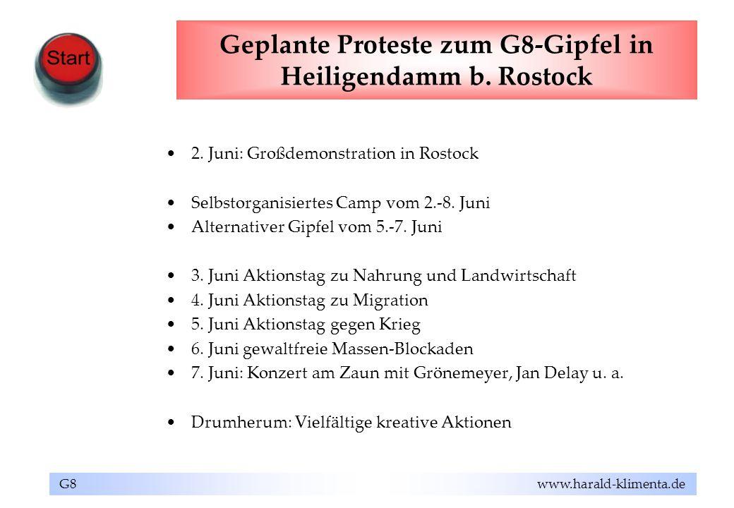 Geplante Proteste zum G8-Gipfel in Heiligendamm b. Rostock