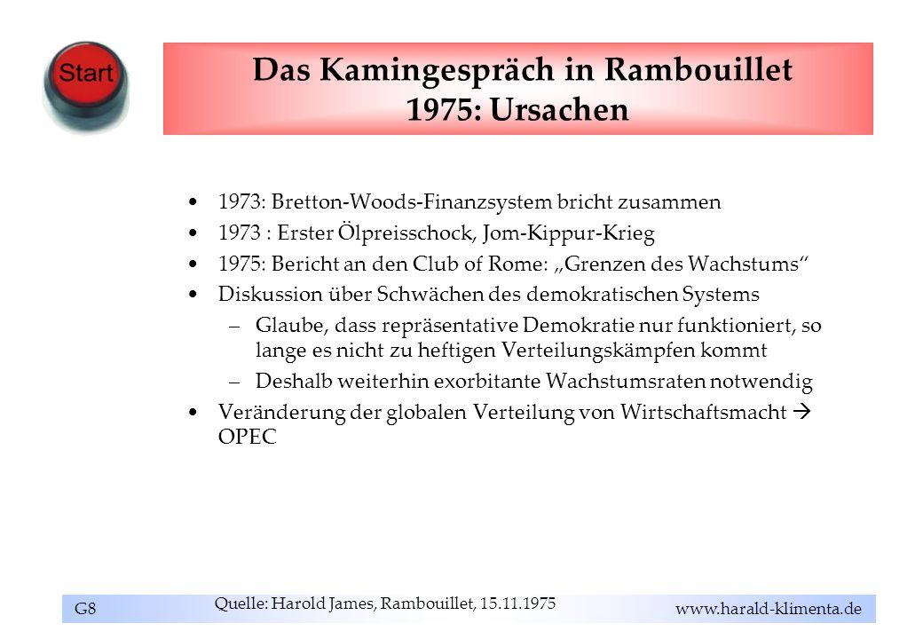 Das Kamingespräch in Rambouillet 1975: Ursachen