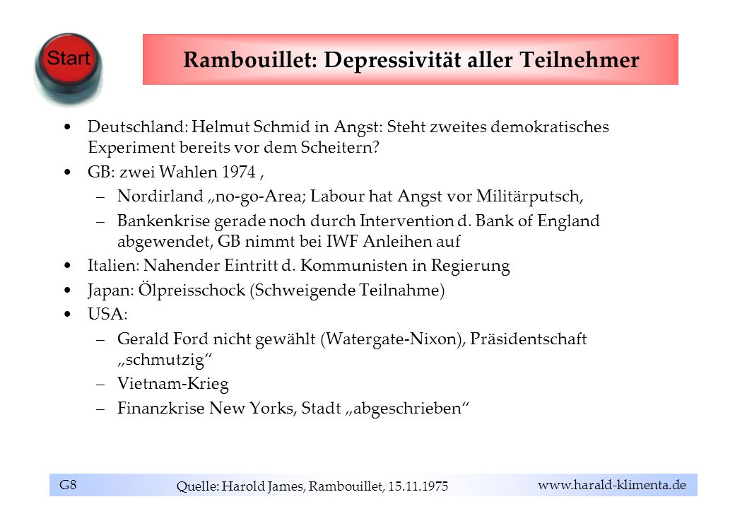 Rambouillet: Depressivität aller Teilnehmer