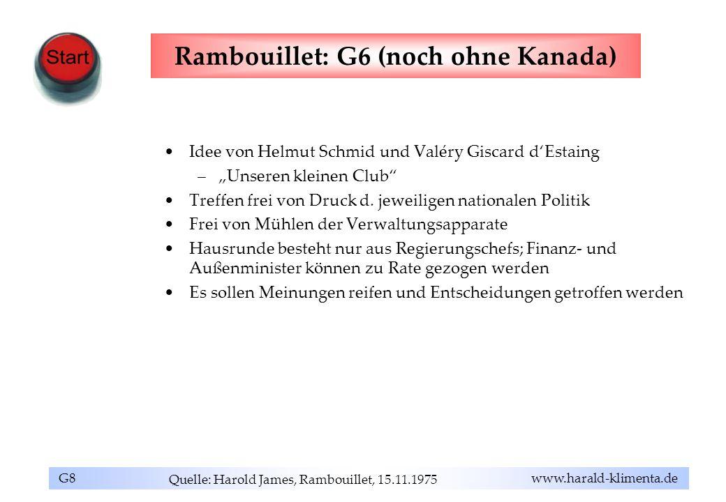 Rambouillet: G6 (noch ohne Kanada)