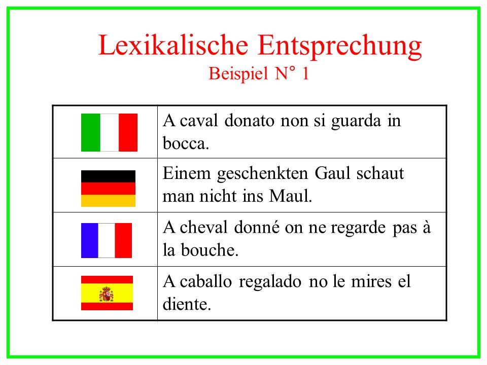 Lexikalische Entsprechung Beispiel N° 1
