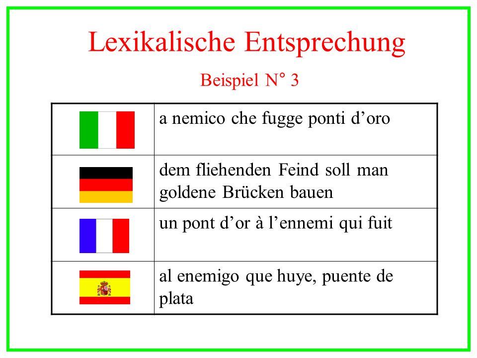 Lexikalische Entsprechung Beispiel N° 3