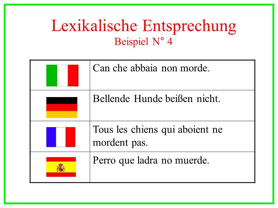Lexikalische Entsprechung Beispiel N° 4