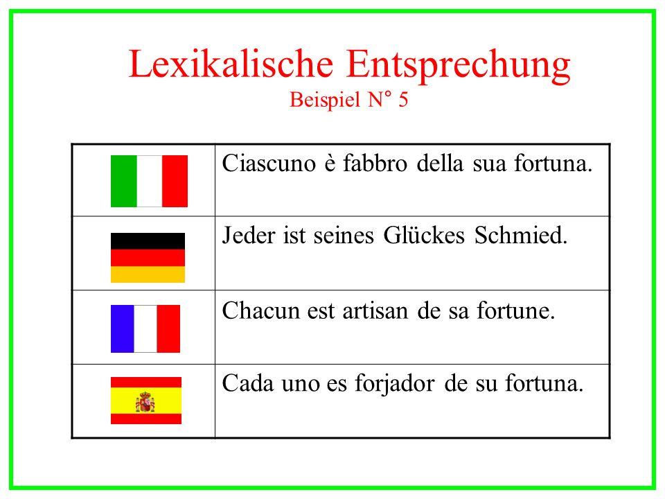 Lexikalische Entsprechung Beispiel N° 5