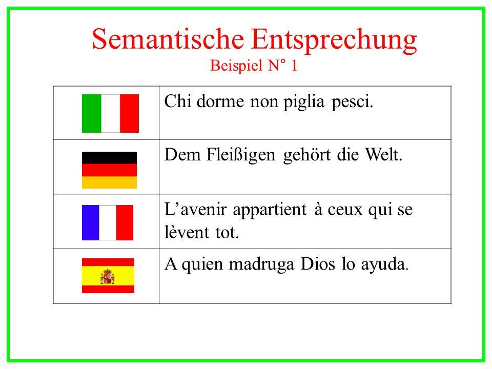 Semantische Entsprechung Beispiel N° 1