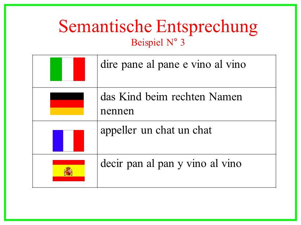 Semantische Entsprechung Beispiel N° 3
