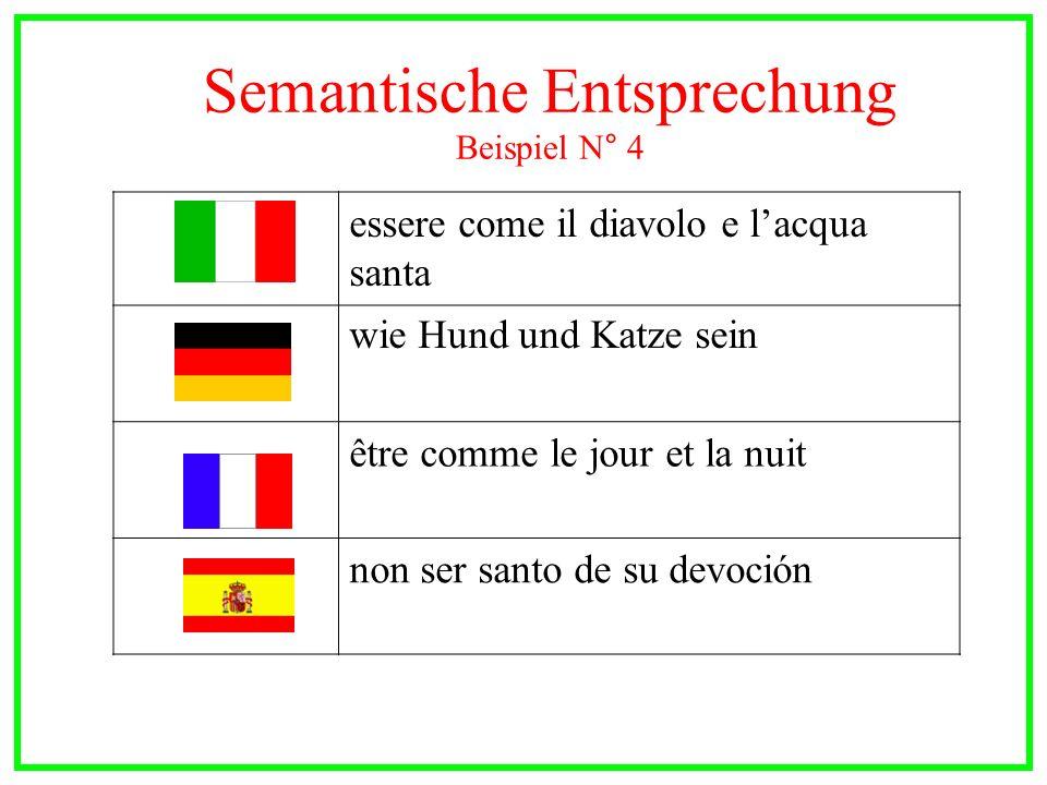 Semantische Entsprechung Beispiel N° 4
