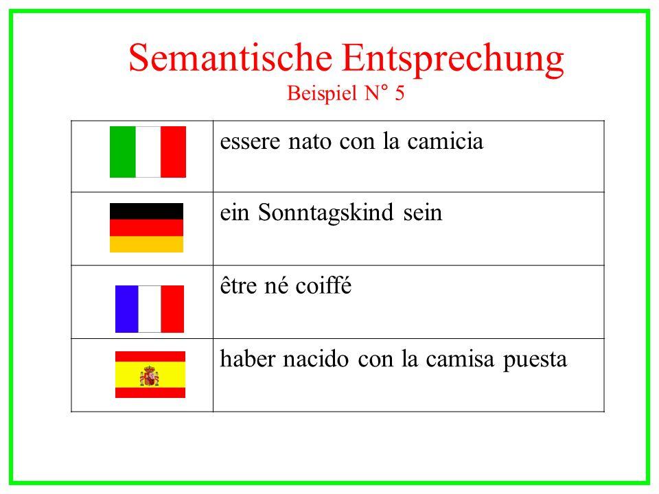 Semantische Entsprechung Beispiel N° 5