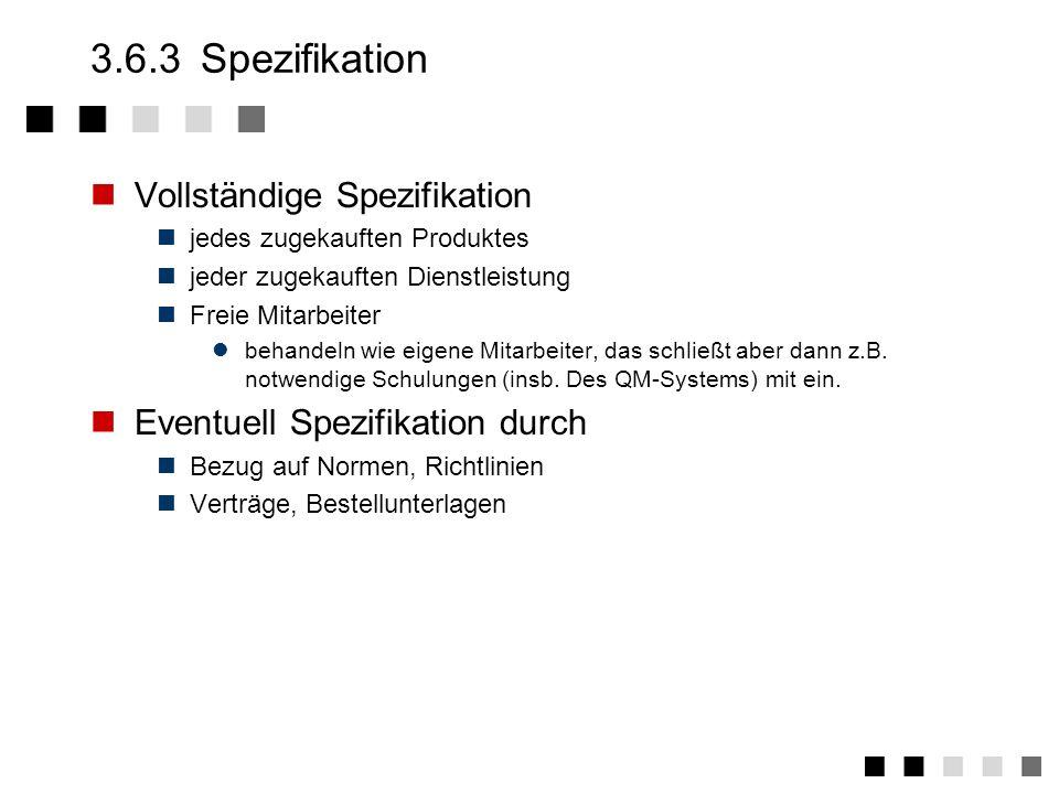3.6.3 Spezifikation Vollständige Spezifikation