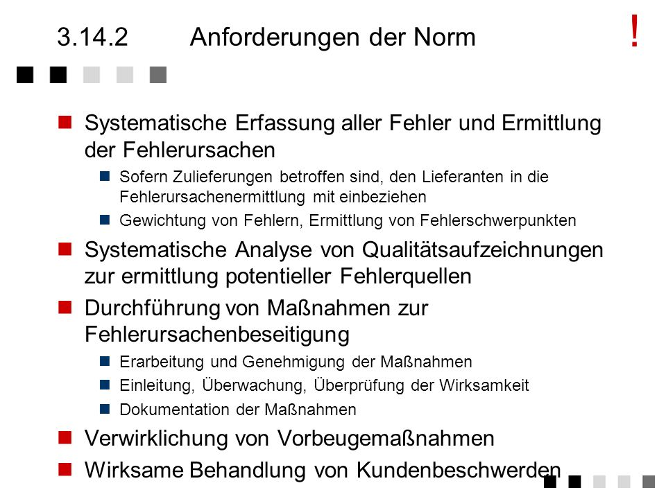 3.14.2 Anforderungen der Norm