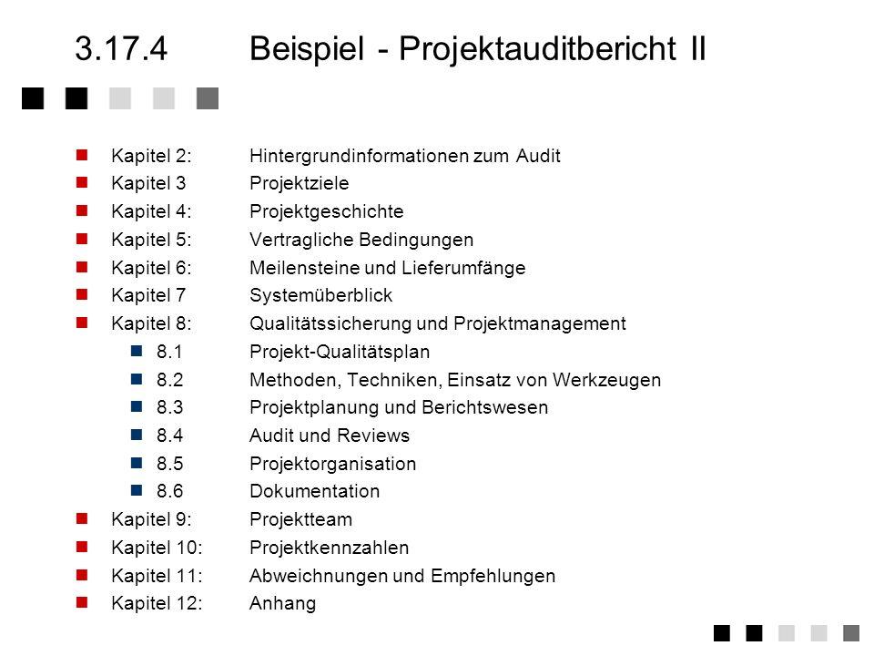 3.17.4 Beispiel - Projektauditbericht II