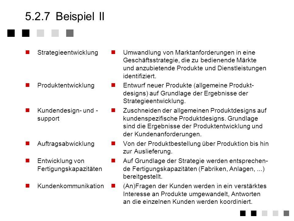 5.2.7 Beispiel II Strategieentwicklung Produktentwicklung