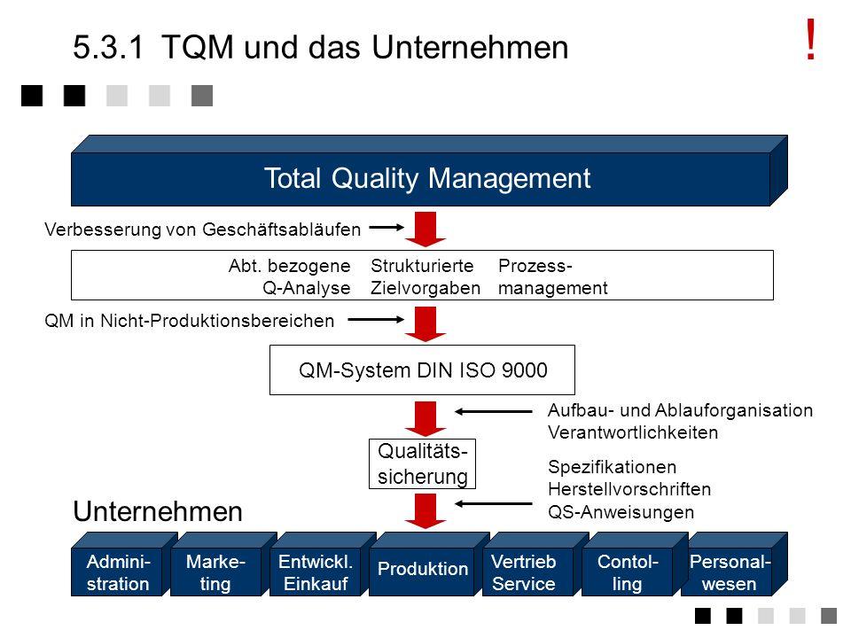 5.3.1 TQM und das Unternehmen