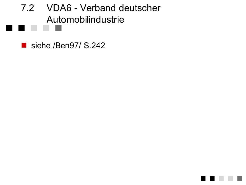 7.2 VDA6 - Verband deutscher Automobilindustrie
