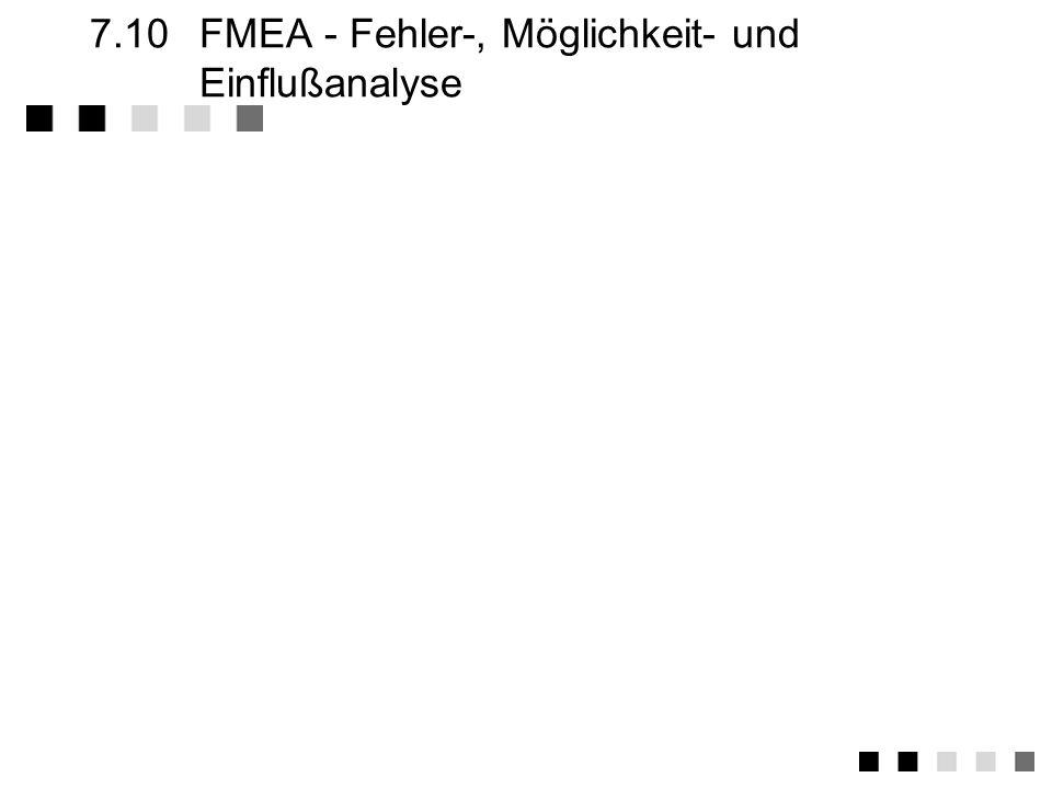 7.10 FMEA - Fehler-, Möglichkeit- und Einflußanalyse