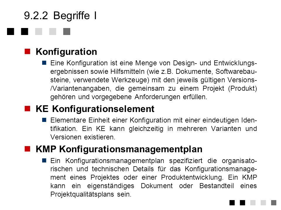 9.2.2 Begriffe I Konfiguration KE Konfigurationselement