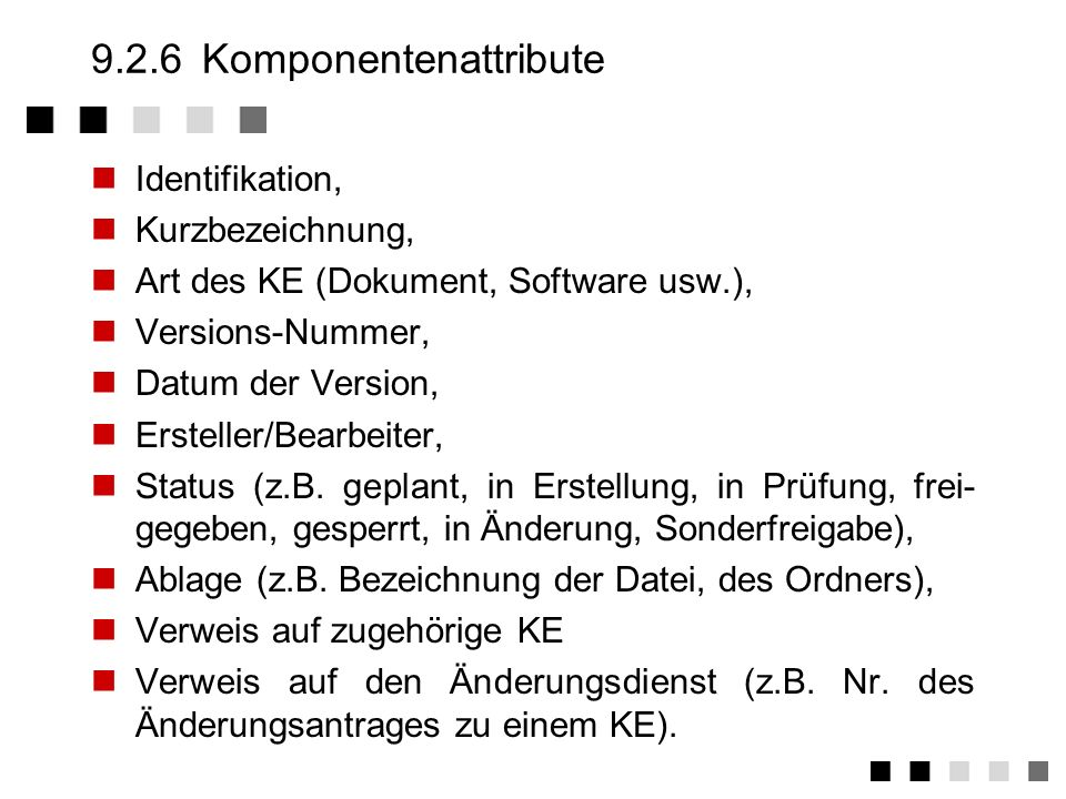 9.2.6 Komponentenattribute