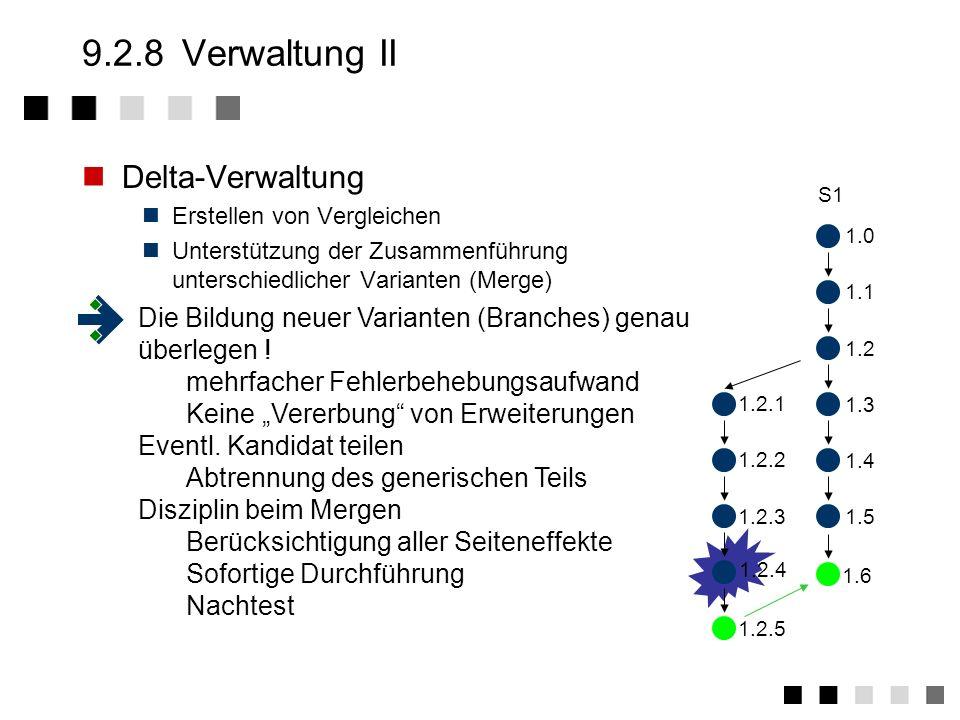 9.2.8 Verwaltung II Delta-Verwaltung