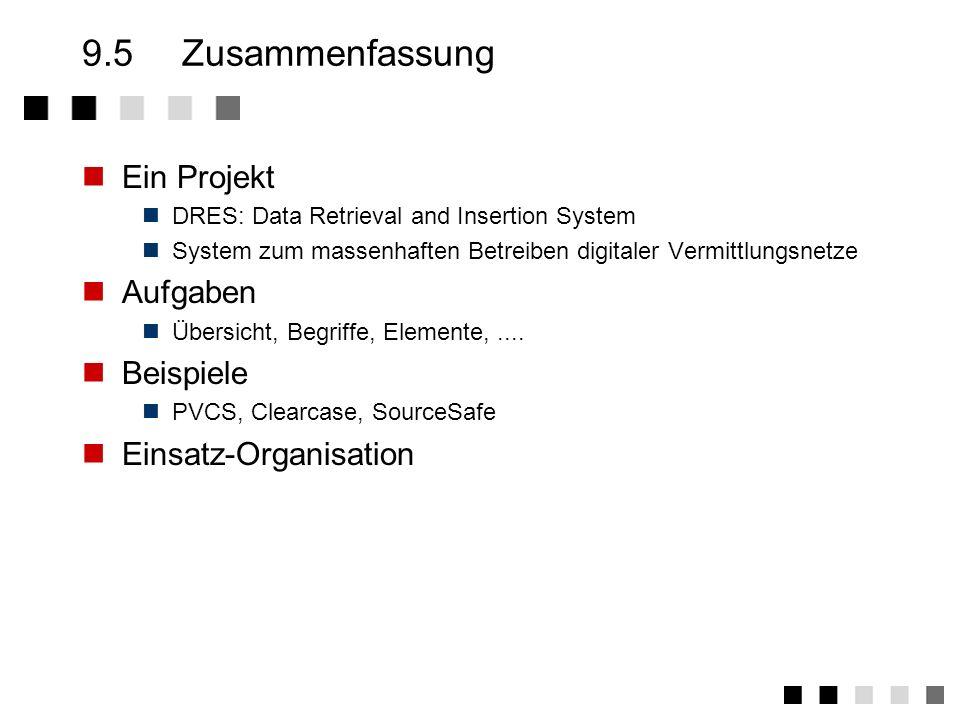 9.5 Zusammenfassung Ein Projekt Aufgaben Beispiele