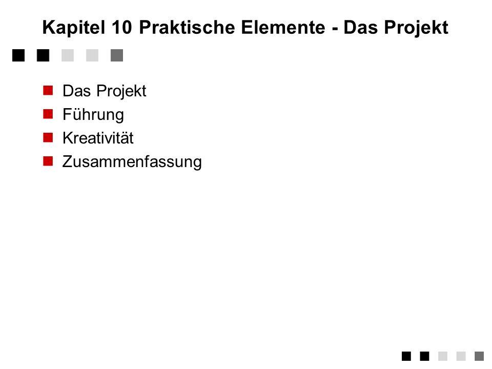 Kapitel 10 Praktische Elemente - Das Projekt