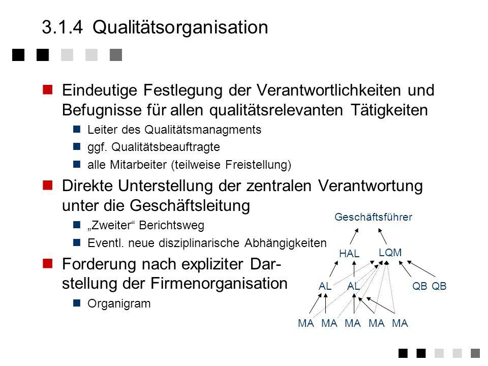3.1.4 Qualitätsorganisation
