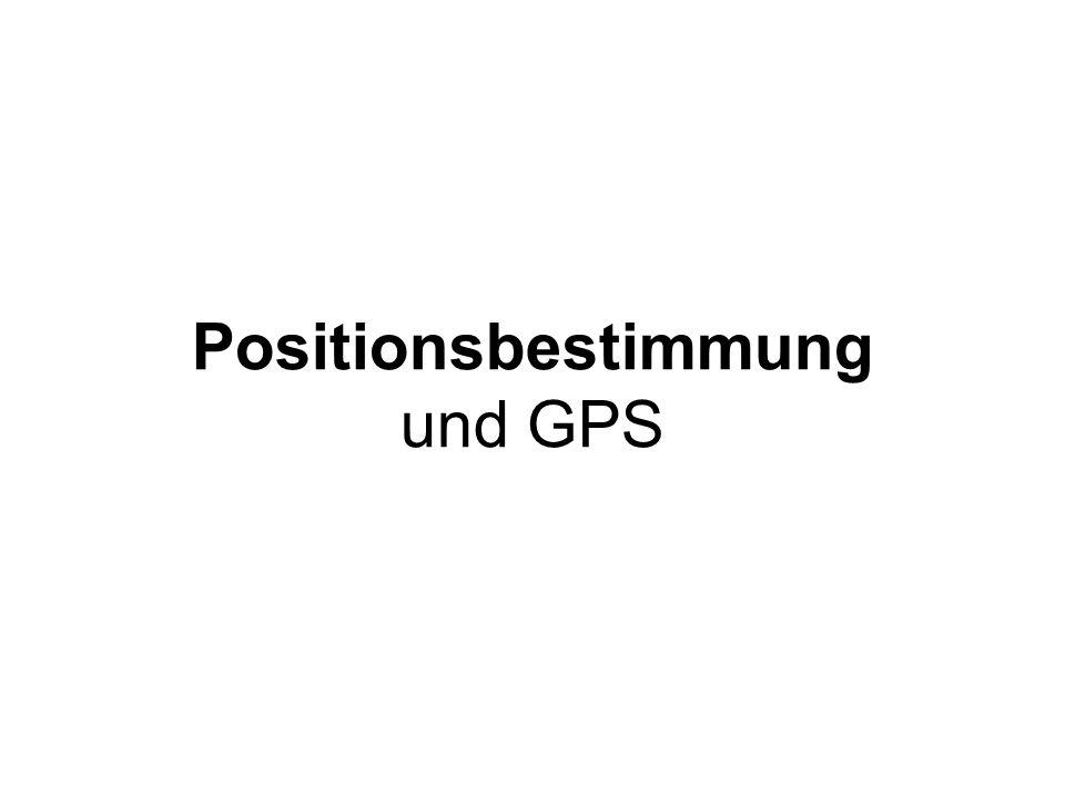 Positionsbestimmung und GPS
