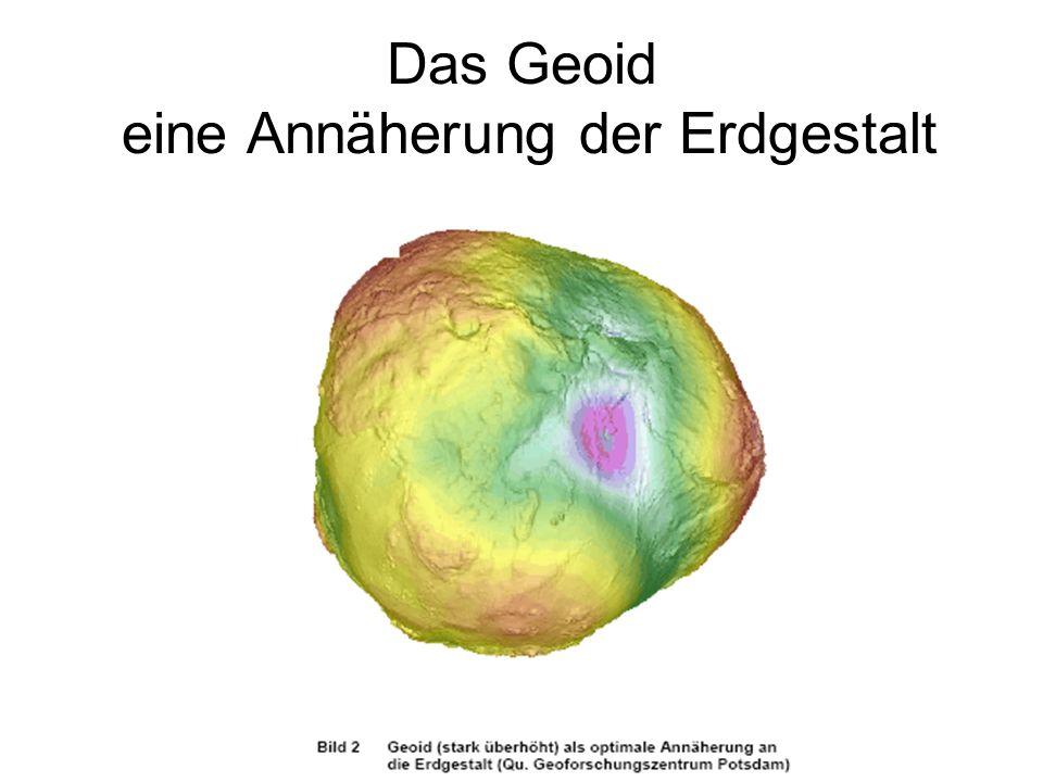 Das Geoid eine Annäherung der Erdgestalt