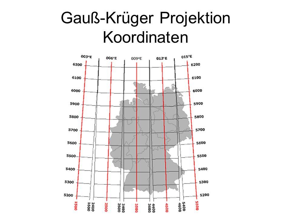 Gauß-Krüger Projektion Koordinaten