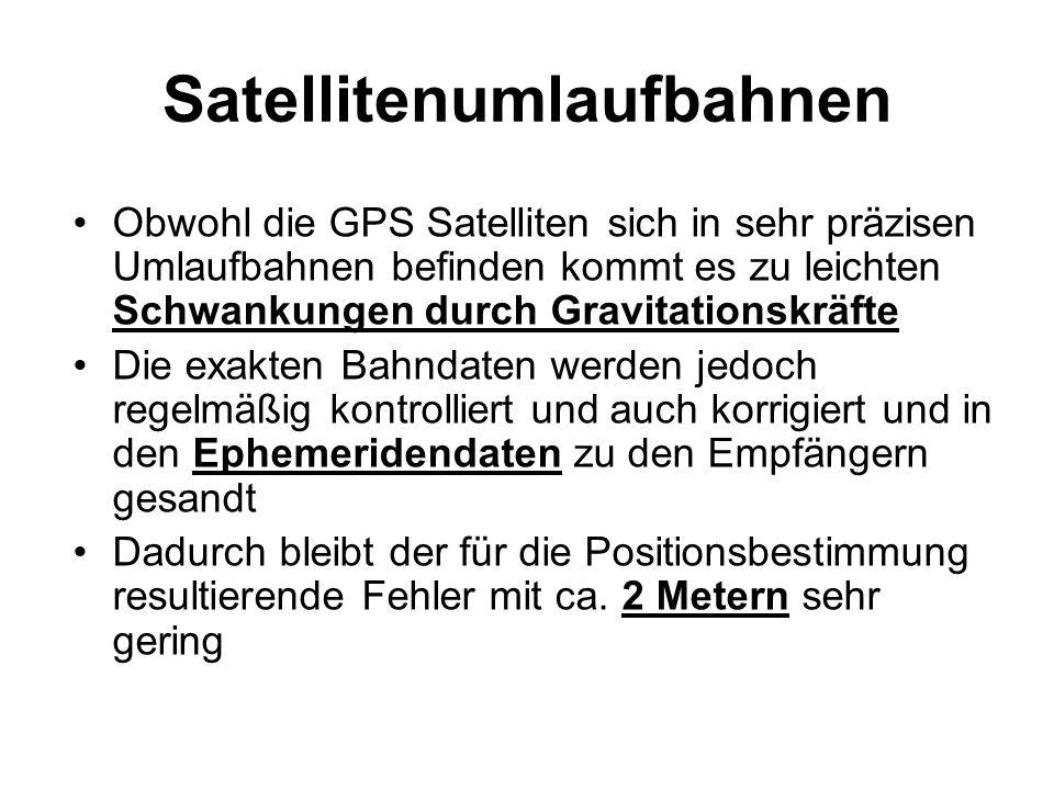 Satellitenumlaufbahnen