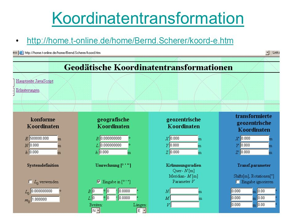 Koordinatentransformation