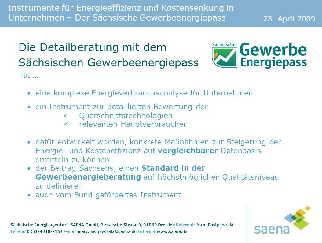 Die Detailberatung mit dem Sächsischen Gewerbeenergiepass