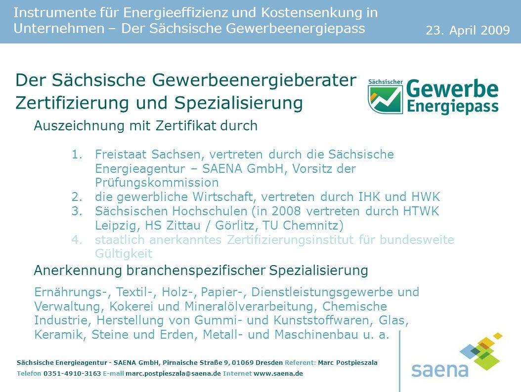 Der Sächsische Gewerbeenergieberater