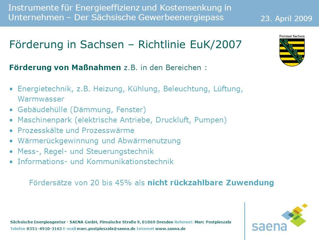 Förderung in Sachsen – Richtlinie EuK/2007