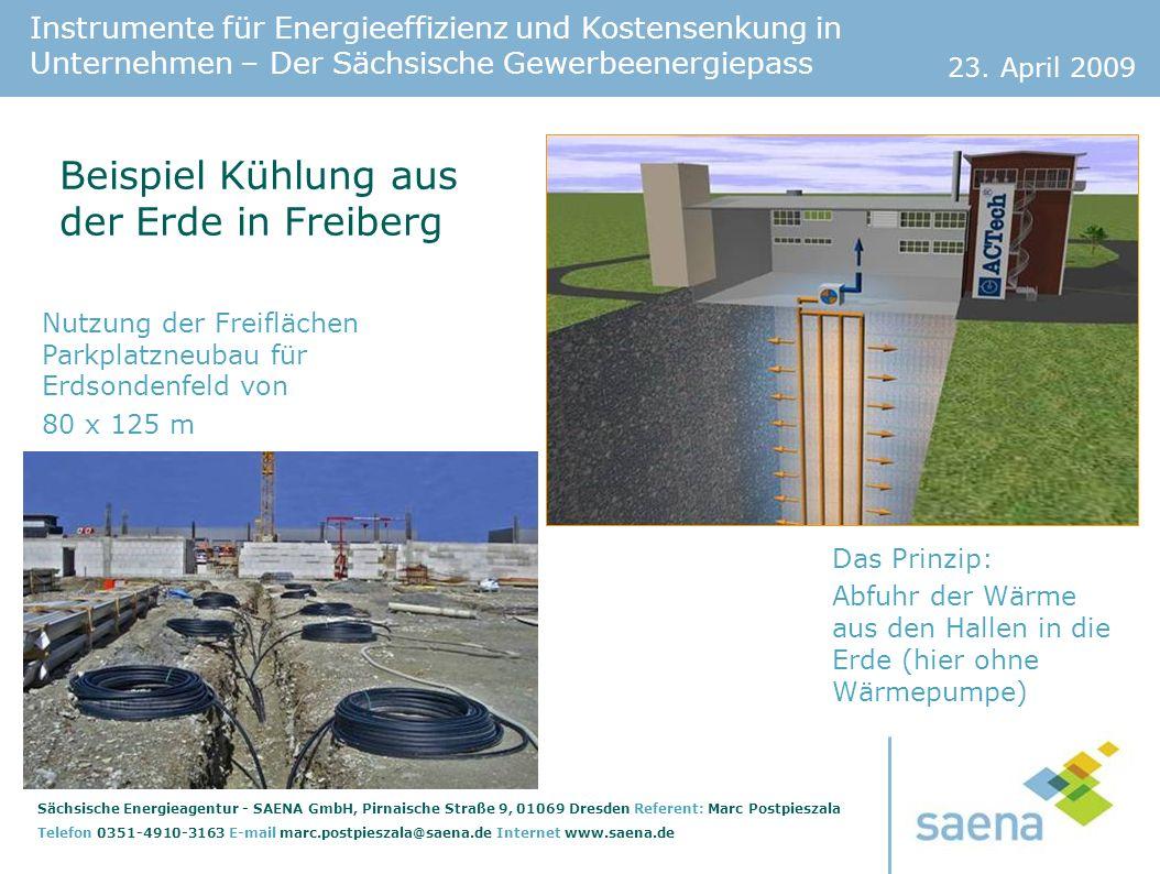 Beispiel Kühlung aus der Erde in Freiberg