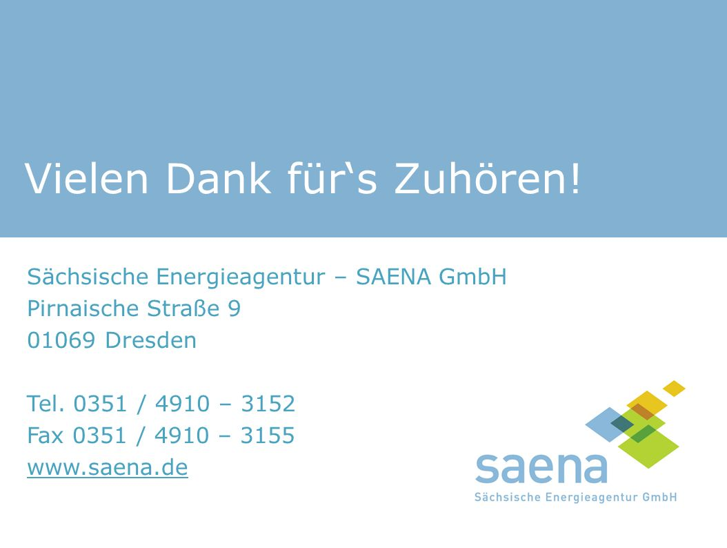 Sächsische Energieagentur – SAENA GmbH