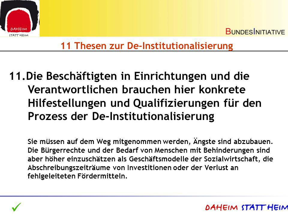 11 Thesen zur De-Institutionalisierung