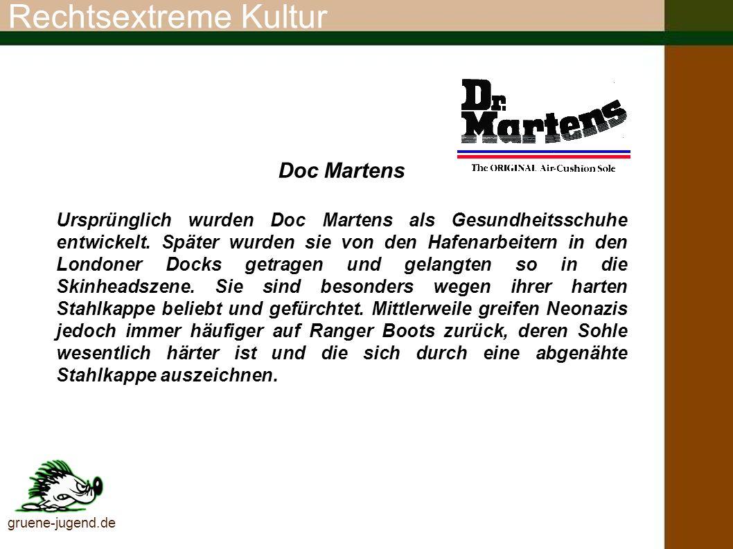Rechtsextreme Kultur Doc Martens