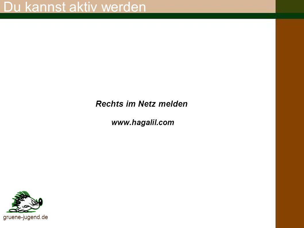 Rechts im Netz melden www.hagalil.com