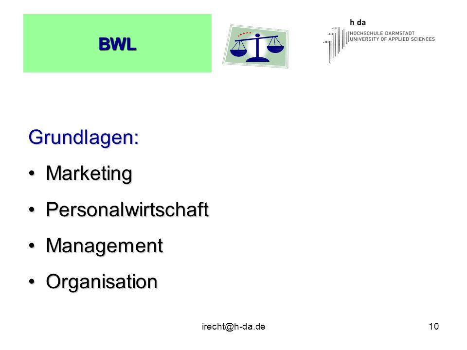 Grundlagen: Marketing Personalwirtschaft Management Organisation BWL