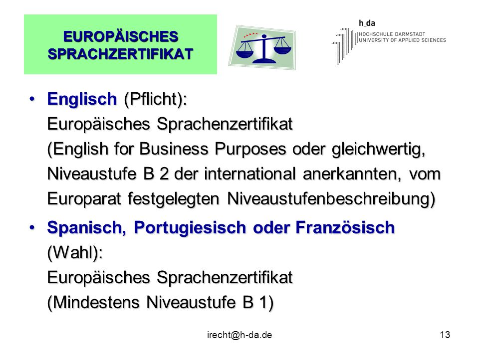 EUROPÄISCHES SPRACHZERTIFIKAT