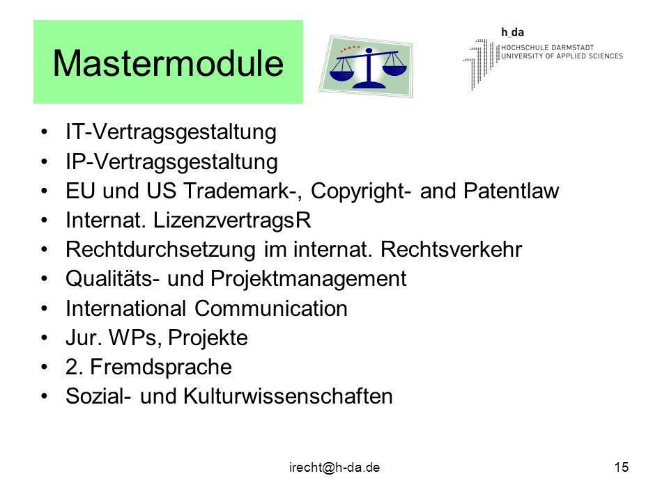 Mastermodule IT-Vertragsgestaltung IP-Vertragsgestaltung