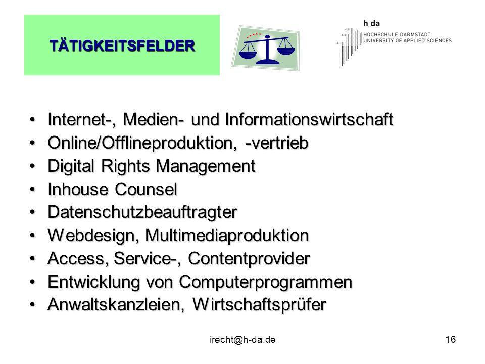 Internet-, Medien- und Informationswirtschaft