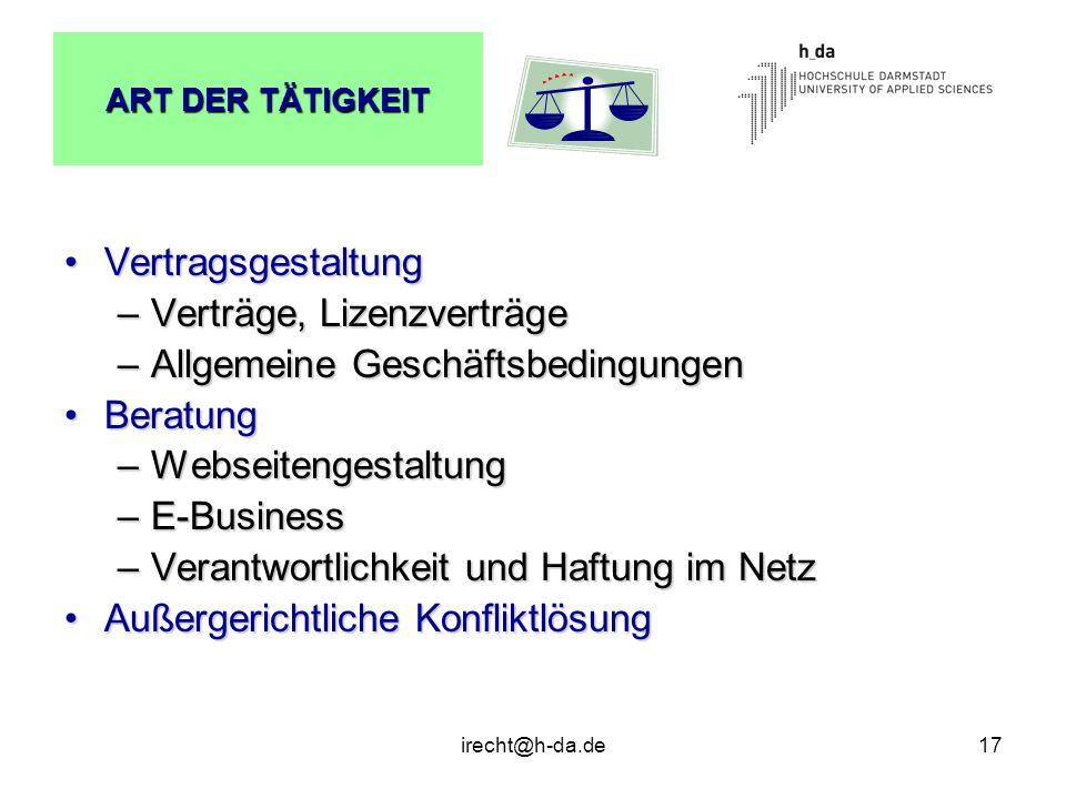 Verträge, Lizenzverträge Allgemeine Geschäftsbedingungen Beratung